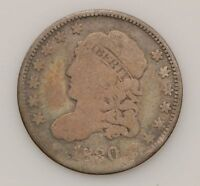 1830 CAPPED BUST SILVER HALF DIME G65