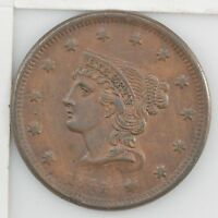 1841 BRAIDED HAIR LARGE CENT Z88
