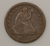 1857 O LIBERTY SEATED QUARTER DOLLAR VARIETY 1 G93