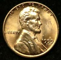 1959 D UNCIRCULATED LINCOLN MEMORIAL CENT PENNY BU B02