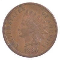 1880 INDIAN HEAD ONE CENT J58