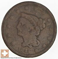 1841 BRAIDED HAIR LARGE CENT 3679
