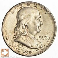 1957 FRANKLIN HALF DOLLAR 90 SILVER 3813