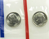 1994 P AND D SET OF UNCIRCULATED BU ROOSEVELT DIME MINT CELLO B02