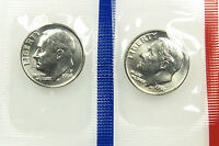 1994 P AND D SET OF UNCIRCULATED BU ROOSEVELT DIME MINT CELLO B01