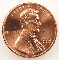 1993 UNCIRCULATED BU LINCOLN MEMORIAL CENT PENNY B01