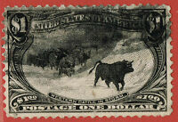 [69] USA 1898 SCOTT292 USED CV:$725 WESTERN CATTLE IN STORM
