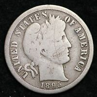 1895 O BARBER DIME CHOICE VG  E164 ENM