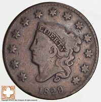 1829 MATRON HEAD LARGE CENT N.7 WHEELSPOKE 2506