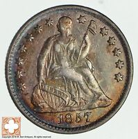 1857 SEATED LIBERTY SILVER HALF DIME 1930