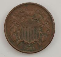 1871 TWO-CENT PIECE G34