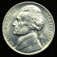 1972 UNCIRCULATED JEFFERSON NICKEL BU B02