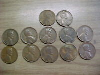 12   1945 S 1946 S & 1949 S LINCOLN WHEAT PENNIES 5   45 5   46 & 2   49