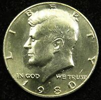 1980 P UNCIRCULATED KENNEDY HALF DOLLAR BU B04