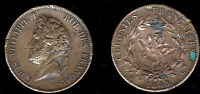 1399  FRANCIA   COLONIE   LOUIS PHILIPPE I   10 CENTESIMI ANNO 1843   MB