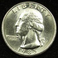 1985 D UNCIRCULATED WASHINGTON QUARTER BU B03