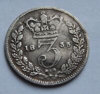 THREEPENCE WILLIAM IV 1835