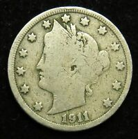 1911 LIBERTY BARBER V NICKEL VG  GOOD B04