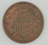 1869 TWO-CENT PIECE Z12