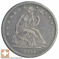 1840 SEATED LIBERTY SILVER HALF DOLLAR XB76