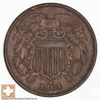1864 TWO CENT PIECE 1763