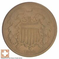 1866 TWO CENT PIECE XB24