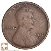 1913-S LINCOLN WHEAT CENT 2628