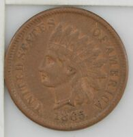 1865 INDIAN HEAD ONE CENT Z88