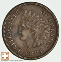 1884 INDIAN HEAD CENT 1889