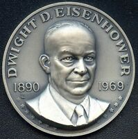 DWIGHT D. EISENHOWER 41.3 GRAMS 1970 AMERICAN MINT ASS. STERLING SILVER 12715