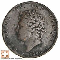 1826 GREAT BRITAIN 1/2 PENNY 9472