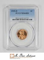 MS66RD 1955 D LINCOLN WHEAT CENT   GRADED PCGS 3369