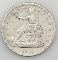 1876 CC LIBERTY SEATED SILVER DOLLAR WITH MOTTO  CARSON CITY 3983