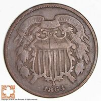 1864 TWO CENT PIECE 1751