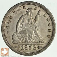 1853 SEATED LIBERTY SILVER QUARTER 1989