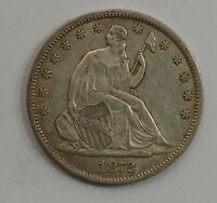 1872 S LIBERTY SEATED HALF DOLLAR VARIETY 4 G30