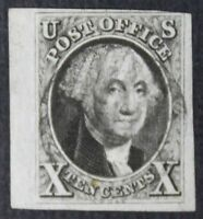 CKSTAMPS: US STAMPS COLLECTION SCOTT2 10C WASHINGTON USED CV$850