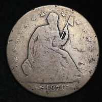 1874 S SEATED LIBERTY HALF DOLLAR CHOICE G  E214 AHT