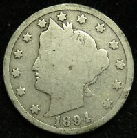 1894 LIBERTY BARBER V NICKEL AG ABOUT GOOD B02