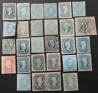 CONFEDERATE STATES  1860'S  CIVIL  WAR  DIXIE  STAMPS  LARGE  LOT  MINT & USED
