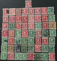 USA  PRIVATE PERF VENDING MACHINE COIL STAMPS LARGE  LOT INCL. SCHERMACK