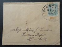 CONFEDERATE STATES JEFF DAVIS STAMP ON 1860'S  CIVIL WAR COVER -- SEE PHOTOS