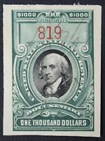 CKSTAMPS: US REVENUES STAMPS COLLECTION SCOTTR181 USED CUT CANCEL