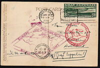 [/19] USA 1930 POST CARD W/ SCOTTC13 FIRST FLIGHT - ZEPPELIN TO HOLLAND