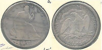 1877 S SEATED LIBERTY SILVER HALF DOLLAR IN GOOD CONDITION