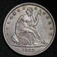 1842 SEATED LIBERTY HALF DOLLAR CHOICE AU  E178 CNM