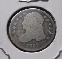 1831 CAPPED BUST DIME NICE CIRCULATED COIN 1