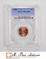 MS66RD 1993 LINCOLN MEMORIAL CENT   GRADED PCGS 5627