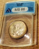ELGIN ILLINOIS PIONEER 50C  ANACS MINT STATE 66 A REAL MINT STATE 66 ANYWHERE
