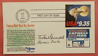1983 1909 EXPRESS MAIL EAGLE $9.35 FDC TORKEL GUNDEL SIGNED CACHET COVER